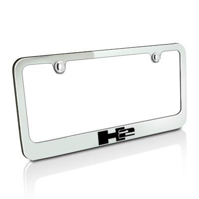 Hummer H2 Chrome Metal License Plate Frame