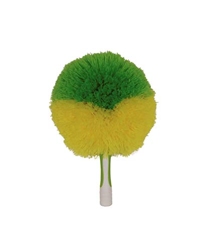 (Pomatree Microfiber Duster for Cleaning and Dusting Ceiling Fans, Cobwebs, Chandeliers and Light Fixtures | Threaded Brush Tool Attachment for Extension Pole to Reach Tall Walls, Vaulted Ceilings)