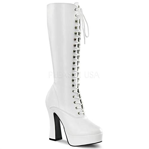 Pleaser Electra Womens Shoes - Pleaser Women's ELECTRA-2020/W/PU, White, 12 M US