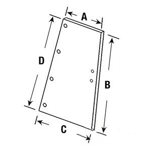 Case IH Tractor Rear Quarter Glass RH/LH Part No: A-1250436C2, AM1250436C2, 109286 ()
