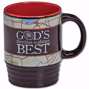 Christian Tools Affirmation Mug-God's Direction Is Always Best (Psalm 48:14) (14 Oz)