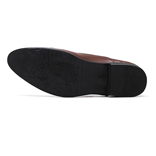 Negro Slip on 2018 PU Leather Zapatos Color Hombre Marrón Hombre Zapatos Low de Negocios Fang Superior Tamaño de Smooth Oxfords 42 Transpirable EU shoes Top pwnqx7vO5R