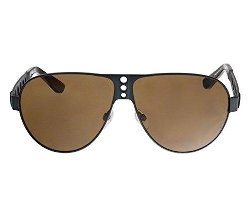 Diesel Designer Sunglasses - Diesel Men's DL0092 Metal Aviator Blue Sunglasses 63