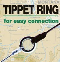 3mm 40 Pound Tippet Rings - Dispenser with 10 Rings and 20 Pack Refill (30 Rings Total)