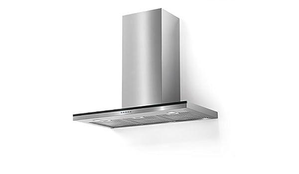 Campana de la Clase Superior de pared verticales/galvamet Line 90/A inox/BLK/90 cm/100% Made in Italy/Real Silencioso/Campana/Inox Diseño/ECO LED: Amazon.es: Grandes electrodomésticos