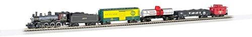 Bachmann Sets Scale Train N - Bachmann Trains - Trailblazer Ready To Run 60 Piece Electric Train Set - N Scale