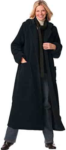 44da05287ce Woman Within Plus Size Petite Hooded Berber Fleece Duster Coat