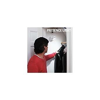 Bitblin Presence Light Lámpara con Sensor de Movimiento de Interior y Exterior, Blanco, 12 x 12 x 7 cm
