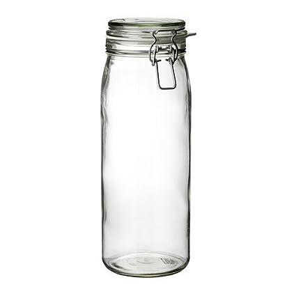 Ikea tappo di sughero Barattolo di vetro con coperchio in vetro, 2 L ...