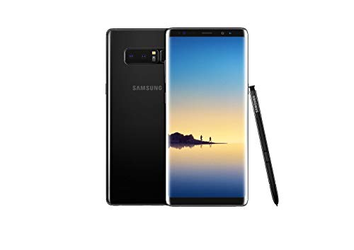 Samsung Galaxy Note 8 N950U 64GB Unlocked GSM 4G LTE Android Smartphone w/Dual 12 MegaPixel Camera (Renewed) (Midnight Black)]()