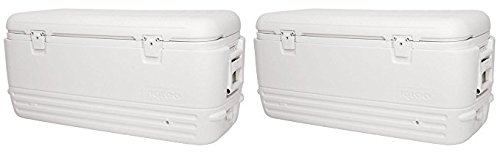 Igloo Polar Cooler (120-Quart, White) (Pack of 2)