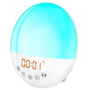 2020 wifi Lampe de Chevet LED Avec Simulation de Lever et Coucher de Soleil, 30 Alarmes de Luminosité Programmables…