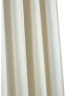 Croydex Plain Ivory Textile Shower Curtain By