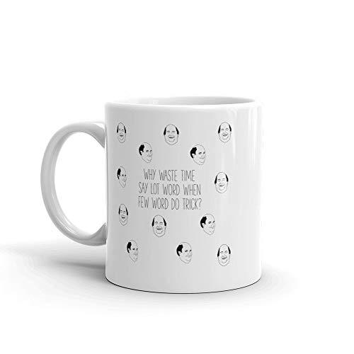 The Office TV show quote Kevin Malone coffee mug | Why waste time say few word- Coffee Mug, Tea Mug, Cute Mug - Gift, cute gift, Souvenir, 11oz, 15oz