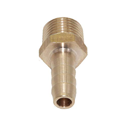 Joyway Brass Barb Fitting 3//8 Hose ID x 1//4 Male NPT Water Fuel Air Pack of 5