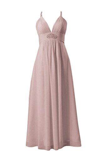 18 Evening Dress dusty DaisyFormals Dress BM350 V neck Long Bridesmaid Lady Rose Formal Dress Z8qAPw4Z
