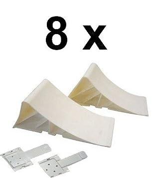 Keil:4 x Keil Unterlegkeil mit Halter 1600 kg Farbe und Menge w/ählbar Halter W