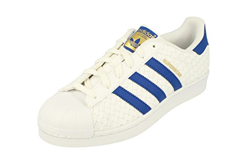 Adidas Originals Superstar Mens Trainers Sneakers Shoes (UK 7 us 7.5 EU 40 2/3, white blue gold BB1173)