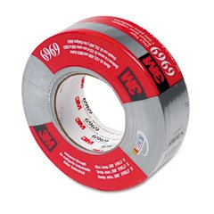 3M 6969 Polyethylene Coated Cloth Heavy-Duty Duct Tape, 200 Degree F Performance Temperature, 32 lbs/in Tensile Strength, 60 yds Length x 2