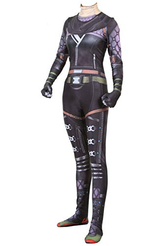 Womens Kids Game APEX Hero Wraith Lycra Spandex Bodysuit Tights Jumpsuit Legends Cosplay Costume for Boys&Girls Purple -