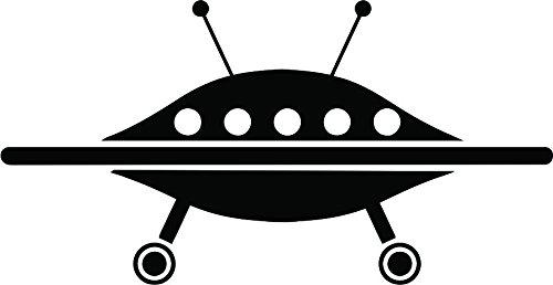 UFO Spaceship Vinyl Die Cut Decal ()