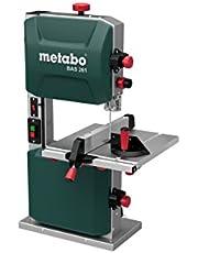 Metabo bandsåg BAS 261 (400 watt, max. skärhöjd 103 mm, genomströmsbredd 245 millimeter, LED-ljus, upp till 45° svängbar arbetsbord, inklusive parallell och vinkelanslag) 619008000