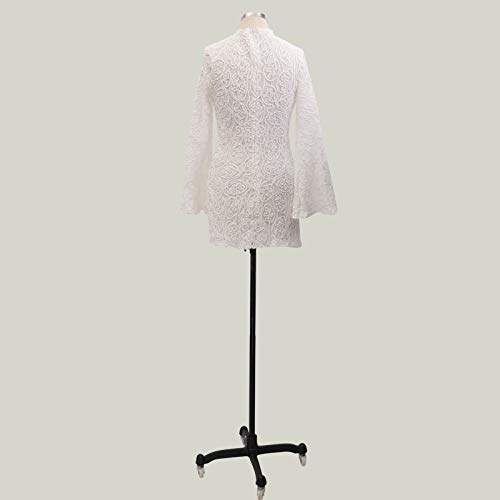 Ultramall Fashion Women Slim fit Summer Long Sleeve Bat Sleeve O- Neck Formal Party Dress(White,XL) by Ultramall (Image #6)