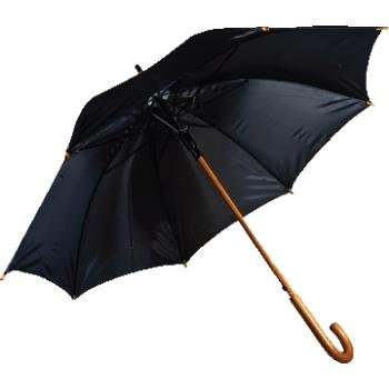 Rainworthy 48 Inch Black Luxury Wood Umbrella (24 Pack) by