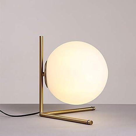 Lámpara LED de diseño nórdico de vidrio de hierro nórdico. Luz LED ...