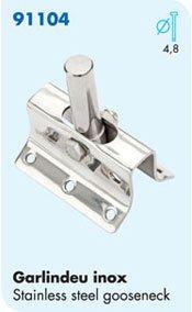 Nautos-LASER PARTS-# 91104-GOOSE NECK / STAINLESS STEEL- Sailboat hardware