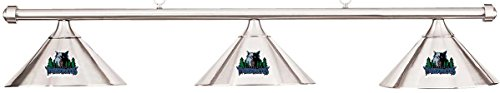 Imperial NBA Timberwolves Chrome Metal Shade & Chrome Bar Billiard Pool Table Light by Imperial