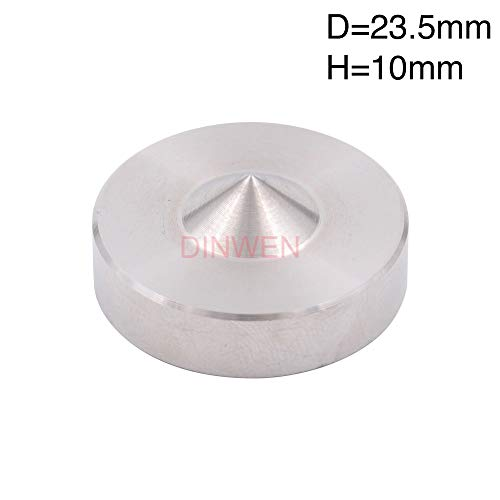 Tomeco Machined Stainless Steel Speaker AMP Spike Isolation Stand Vibration  Cone Feet Floor Base Pad DISC for HiFi Audio DIY 24mm 27mm - (Color: