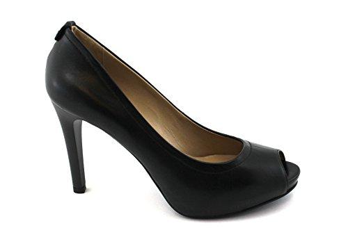 Dcollet Cuero Negras Comprueban Giardini Nero Mujeres 05411 Jardines Negro Tacón Zapatos De fSFwzqPx
