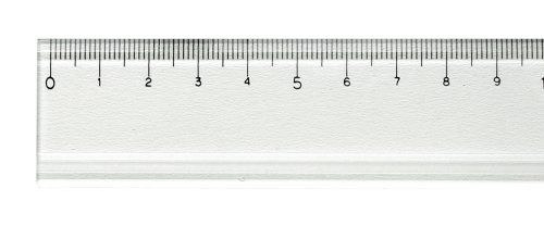 Too acrylic straightedge 50cm scale with grooved (japan import)