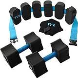 TYR Aquatic Fitness Kit, Black/Blue