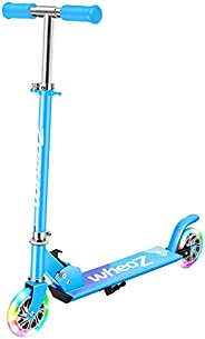 WheoZ Kick Scooters for Kids 2 Wheel Folding Kick Scooter for 3+Years Old Boys & Girls 3 Adjustable Height