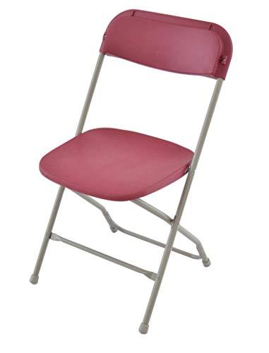 EventStable TitanPRO Plastic Folding Chair - Burgundy ()