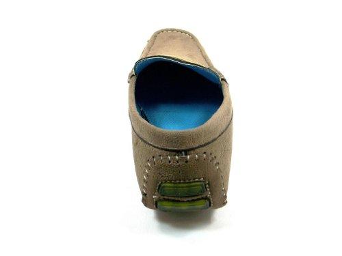 Zapatillas De Conducción Ligeras Y Ocasionales Para Hombre Bravo Hombres Moc-1 Taupe
