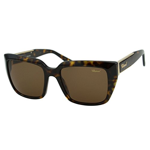 Chopard Imperiale SCH 187S Women Brown Square Crystal Embellished Fashion Designer Eyewear Sunglasses ()