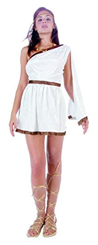 Female Vulcan Costumes (OvedcRay Sexy Woman Toga Greek Goddess Costumes Roman Empress Dress White Purple)