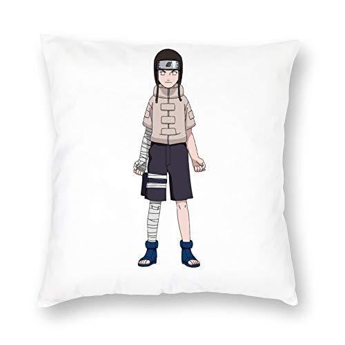 ZWCSM Naruto Pillow Cover, Soft Decorative Neji Hyuga Hyuga Clan Velboa Plush Throw Pillow Covers Cushion Covers for Sofa Bedroom Car