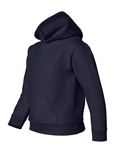 GILDAN Youth Heavyweight Blend Hooded Sweatshirt>S Navy 18500B