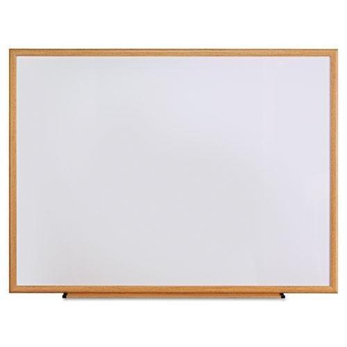 Universal 43618 Dry Erase Board, Melamine, 48 x 36, Oak Frame