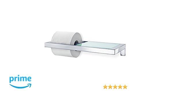 Blomus 68832 WC-portarrollos con marcadores de Cristal Satinado Papel, Acero Inoxidable Pulido: Amazon.es: Hogar