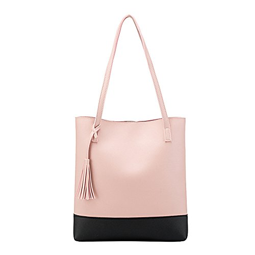Gwqgz Leisure Rosa Marrone Vogue New Bag Slots Tassel fRUWxwfqvr