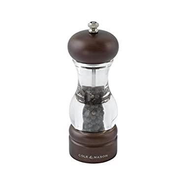 Cole & Mason 105 Forest Precision Wooden Pepper Mill, Peppercorns Included