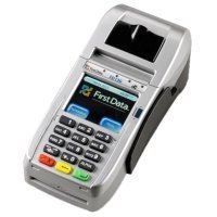 FD-130 Credit Card Terminal with 5 Cleaning Cards and Credit Card Logo Sticker by FIRST DATA (Image #3)