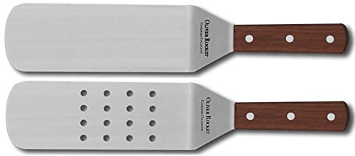 Turner Spatula Set by Oliver Rocket - Commercial Grade Stainless Steel Spatulas for Teppanyaki Grill, Hibachi Grill, or Griddle Grill