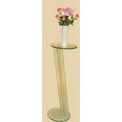 picture of Glass Angled Pedestal, Round Top By Chintaly