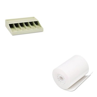 KITMMF210470089PMC05208 - Value Kit - Pm Company Single-Ply Thermal Cash Register/POS Rolls (PMC05208) and MMF Bill Strap Rack (MMF210470089)